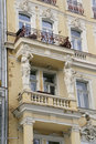 Balconies. Karlovy Vary Stock Photos