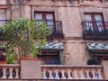 Balconies, La Rambla, Barcelona Royalty Free Stock Photo