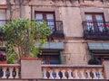Balconies, La Rambla, Barcelona Royalty Free Stock Photo