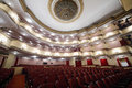 Balconies and luster in auditorium moscow april vakhtangov theatre on april moscow russia of large stage of Stock Image