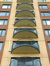 Balconies of a modern highrise condo Royalty Free Stock Photo