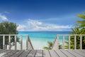 Balcony on a Beach Royalty Free Stock Photo