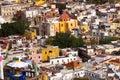 Balcony Colored Houses Church Guanajuato Mexico Royalty Free Stock Photo