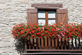 Balcony with flowers Stock Images