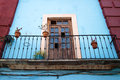 Balcony in guanajuato detail the beautiful town of mexico Stock Photography