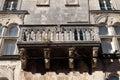 Balcony at house built in Renaissance in Korcula, Croatia Royalty Free Stock Photo