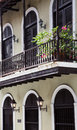 Balcony house in old san juan puerto rico Stock Photography