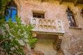 Balcony by Juliet house in Verona, Italy. Royalty Free Stock Photo