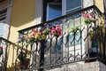 Balcony in Lisbon. Portugal Royalty Free Stock Photo