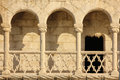 Balcony in manueline style. Belem Tower. Lisbon . Portugal Royalty Free Stock Photo