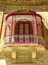 Balcony in Mdina - Malta Royalty Free Stock Images