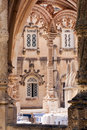 Balcony in old castle Royalty Free Stock Photo