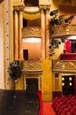 Balcony in performance hall Royalty Free Stock Photo