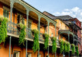 Balcony with plants in the french quarter new orleans usa balconies Stock Photos