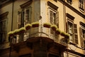 Balcony with plants, Turin, Italy Royalty Free Stock Photos