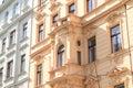 Balcony on renaisance house Royalty Free Stock Photo