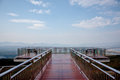 Balcony see view at meamoh park thailand beautiful northern Stock Images