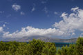 Balcony view our in kissamos crete greece Royalty Free Stock Images