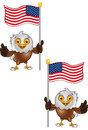 Bald Eagle Character Royalty Free Stock Images
