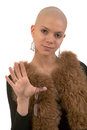 Bald girl Royalty Free Stock Photos
