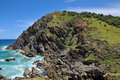 Bald rocky headland at Byron Bay Royalty Free Stock Photography
