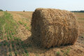 Bale of straw Stock Photo
