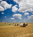Bale of the straw and the sky Royalty Free Stock Photo