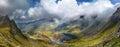 Balea lac from fagaras mountains scenic view of Stock Photos
