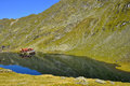 Balea lake from carpathians romanian Royalty Free Stock Image