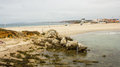 Baleal, Portugal, one isthmus, two beaches Royalty Free Stock Photo