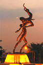 Balerina citraland ballerina statue in surabaya east java indonesia Royalty Free Stock Photo