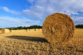 Bales of Hay in a Field Royalty Free Stock Photography