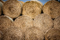 Bales of straw Royalty Free Stock Photo