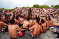 Bali december traditional balinese kecak dance at uluwatu temple on december bali indonesia Royalty Free Stock Image