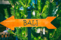 Bali direction sign Royalty Free Stock Photo
