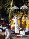 Bali Hindu ceremony on beach Royalty Free Stock Images