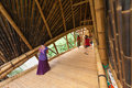 Bali indonesia february bamboo bridge at green school on februray in bali indonesia this bamboo bridge is one of a kind in the Stock Images