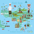 Bali Indonesia map and travel