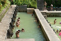 Bali indonesia sep people take bath termal banjar tega hot springs sep banjar bali indonesia springs popular tourist attraction Royalty Free Stock Photography