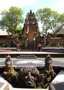 Bali, le temple antique Saraswati d'Ubud Photo libre de droits