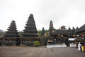 Bali october unidentified tourists visiting besakih temp temple in in indonesia Stock Images