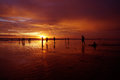 Bali sunset Royalty Free Stock Photo