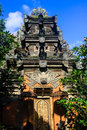 Bali tempel in ubud balinese king s city indonesia on a beautiful sunny day Royalty Free Stock Photos