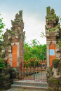 Bali temple gate Stock Images