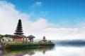 Bali temple in Indonesia. Ulun Danu famous travel landmark Royalty Free Stock Photo