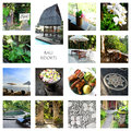 Bali tourism - resorts collage Royalty Free Stock Photo