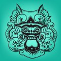 Balinese artwork barong this is Royalty Free Stock Images
