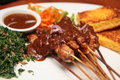 Balinese Chicken Satay Royalty Free Stock Photography