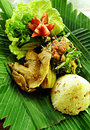 Balinese ethnic duck dish Royalty Free Stock Photo