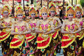 Balinese girls in traditional balinese costumes Royalty Free Stock Photo